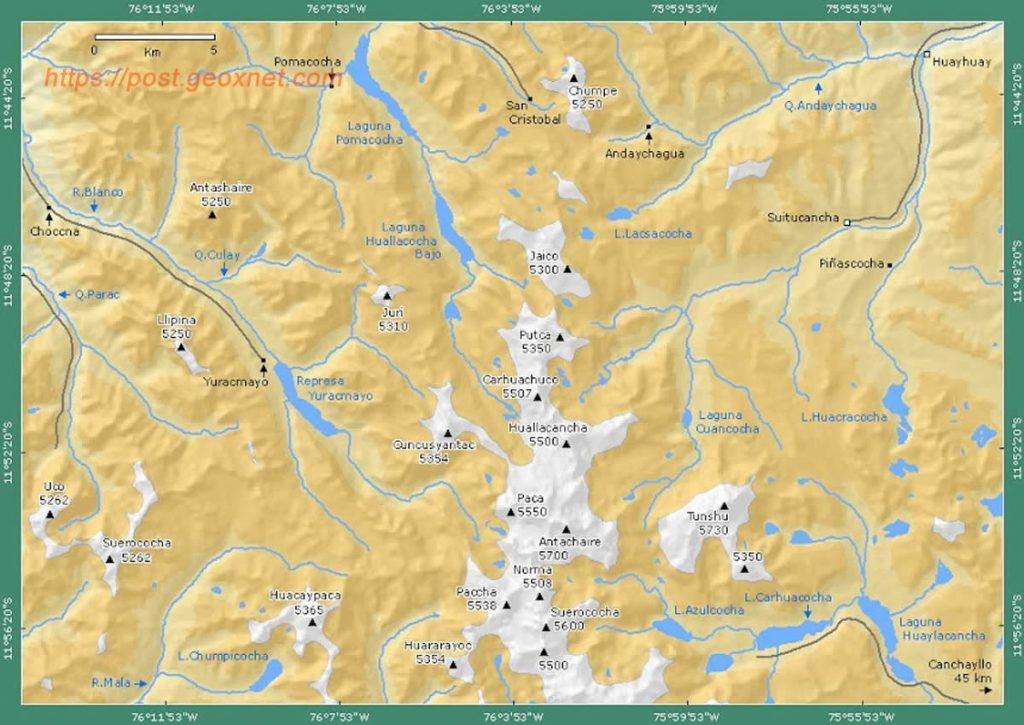 Cordillera Central - Principales Picos - Tunshu